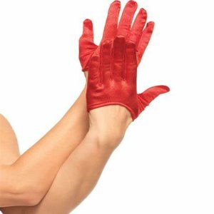 Leg Avenue 2137 Deluxe Mini Cropped Satin Gloves